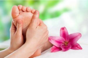 Massage pieds Torsions d'échauffement